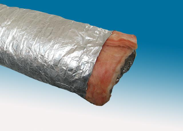 Double-ply red scrim aluminum foil insulated air duct