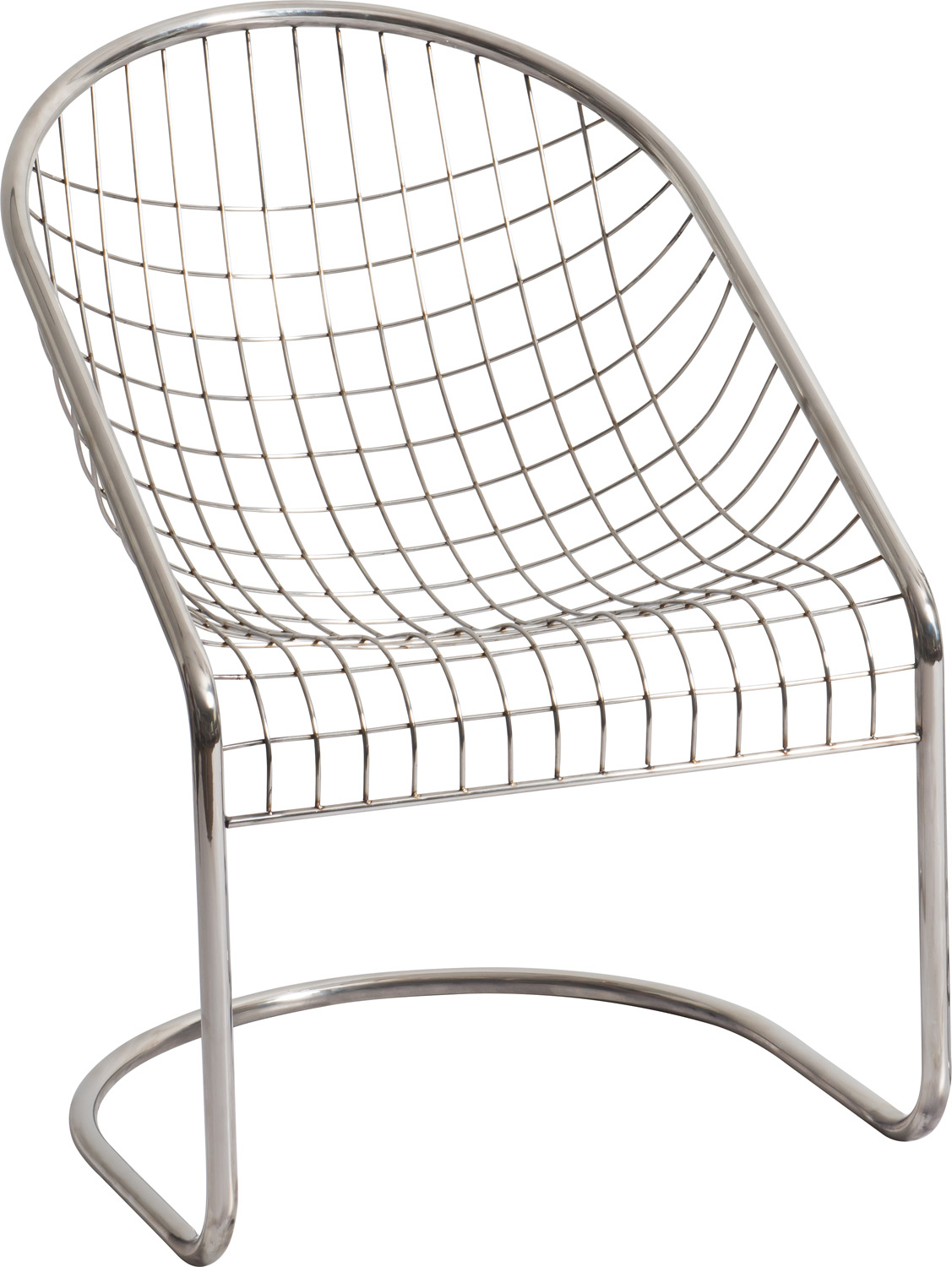JSWMC-11  Cantilever Stainless Steel Wired Leisure Chair