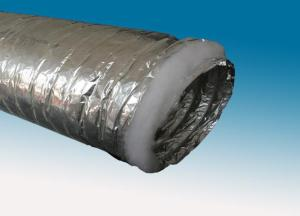 Non-woven single-ply aluminum foil insulated air duct