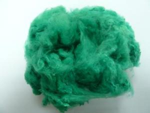 Virgin Green Color Polyester Staple Fiber