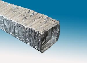 Single-ply rectangle aluminum foil  air duct