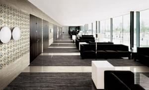 Thin tile Travertine series, T-BLACK