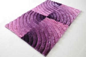 Flower Shape Polyester Shaggy Carpets and Rugs