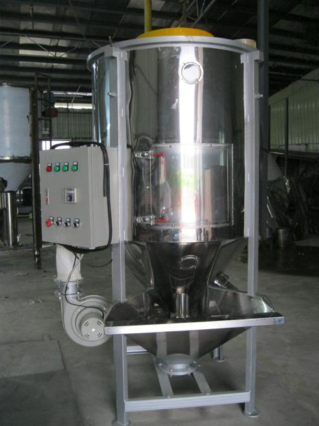 plastic vertical mixer with with hot air drying