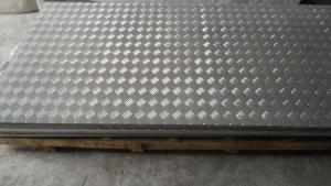 Textured Aluminum Sheet Tread Plate , Five Bars Embossed Aluminum Sheet
