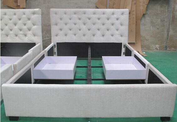Modern Soft PU Bed with Drawer
