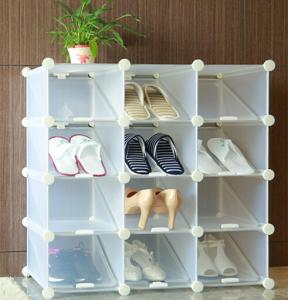 Plastic shoe cabinets and free to adjust