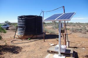 Borehole solar water pump