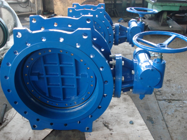 Double flanged  Metal Seal eccentric butterfly valve