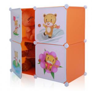 Four Cubes DIY Plastic Children Toys Storage Cabinets