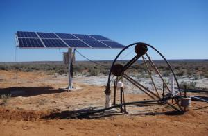 Solar borehole water pump