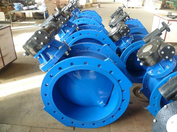 Double flanged  three eccentric butterfly valve
