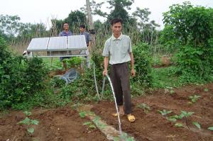 Irrigation solar water pump