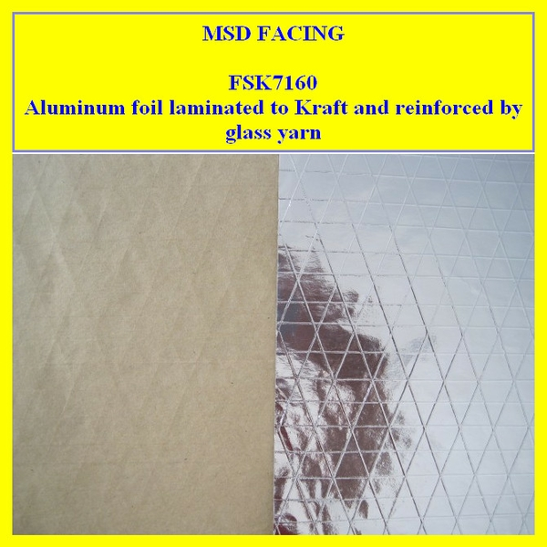 Single SideAluminium foil Scrim Kraft laminated sheet