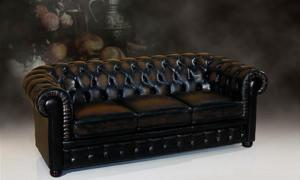 Classic chesterfield sofa imported leather