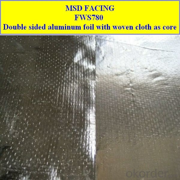 Double side aluminium foil laminated to PE Woven fabric