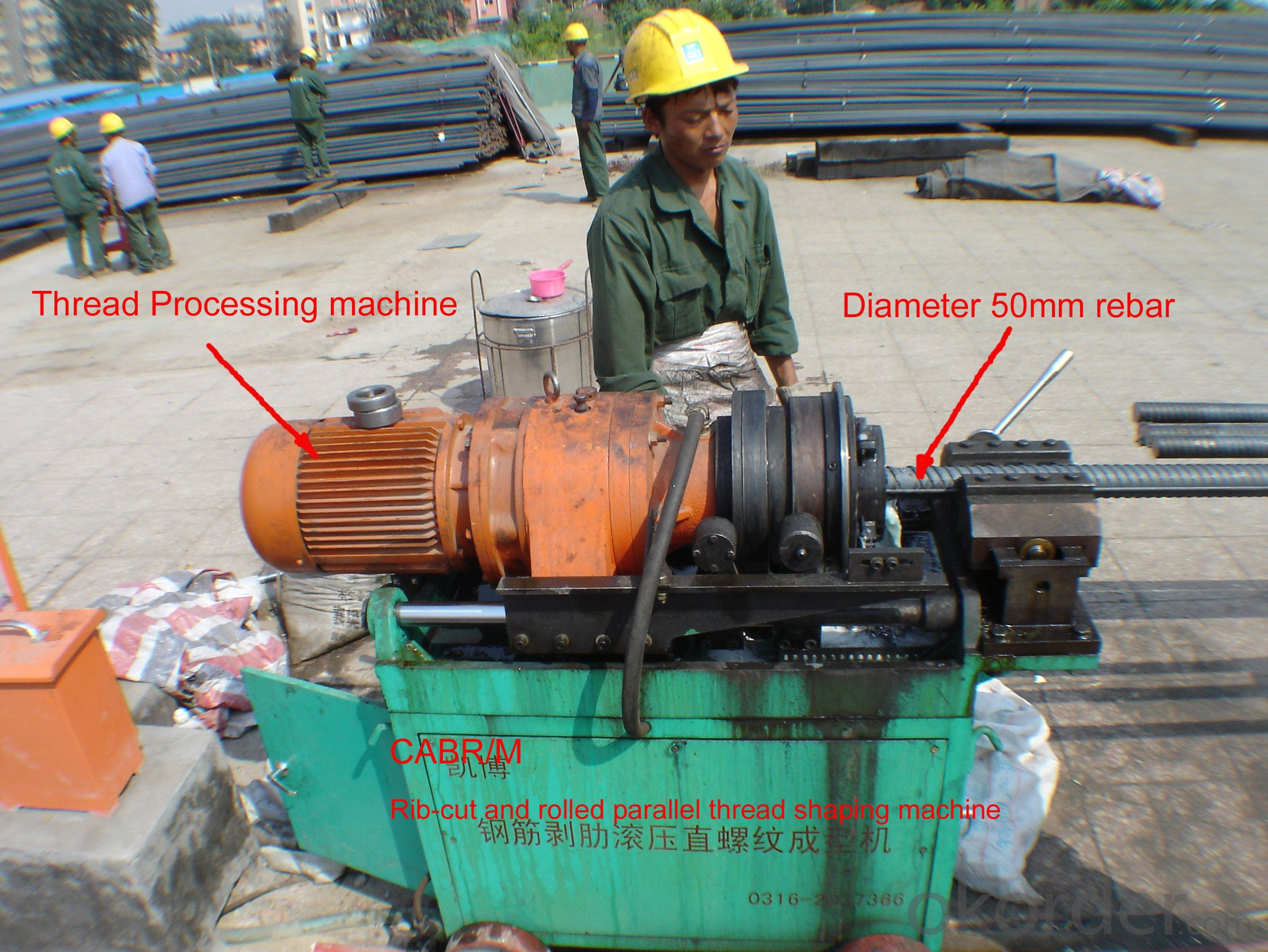GM350 rebar threading machine for anchorage