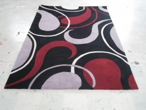 Stripe Design Acrylic Hand Tufted Carpets