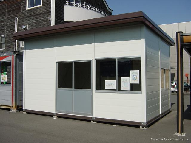 Container House with big glass