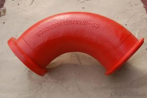 Concrete Pump Truck Parts Elbow Bend R275 DN125 157Flange 45DGR Casting