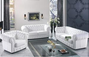 Classic chesterfield sofa 3seater  real leather