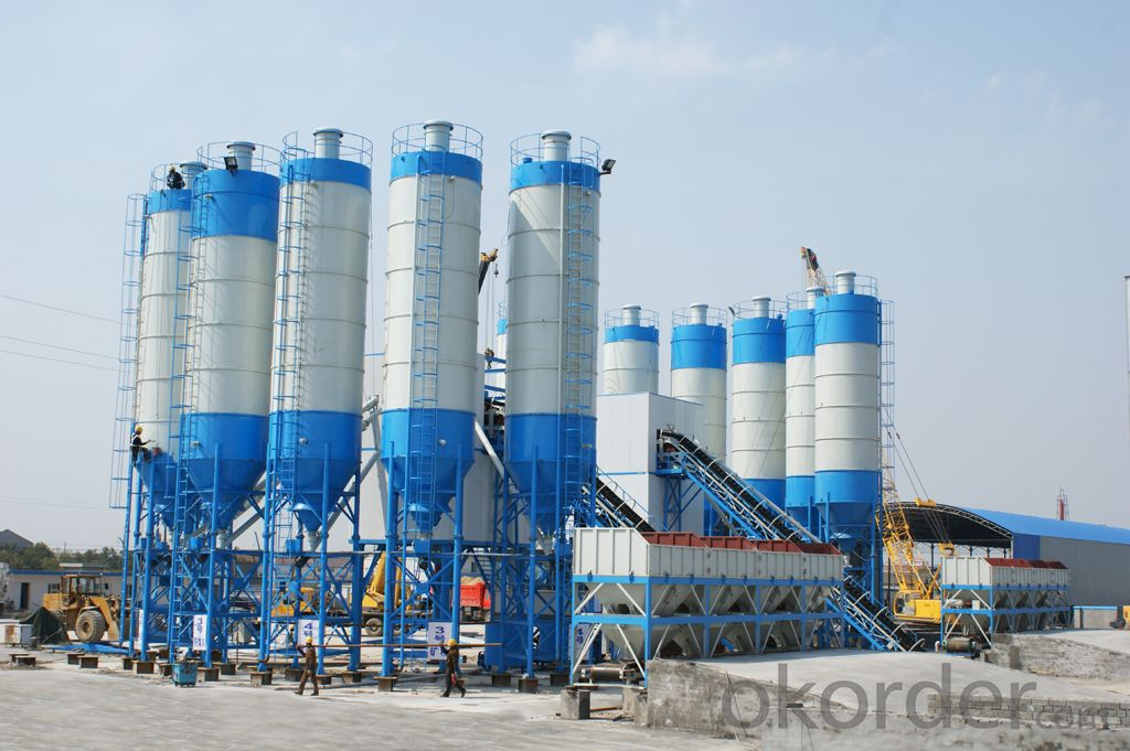 Famous brand concrete mixing plant for construction,production capacity is 120 cube meter per hour