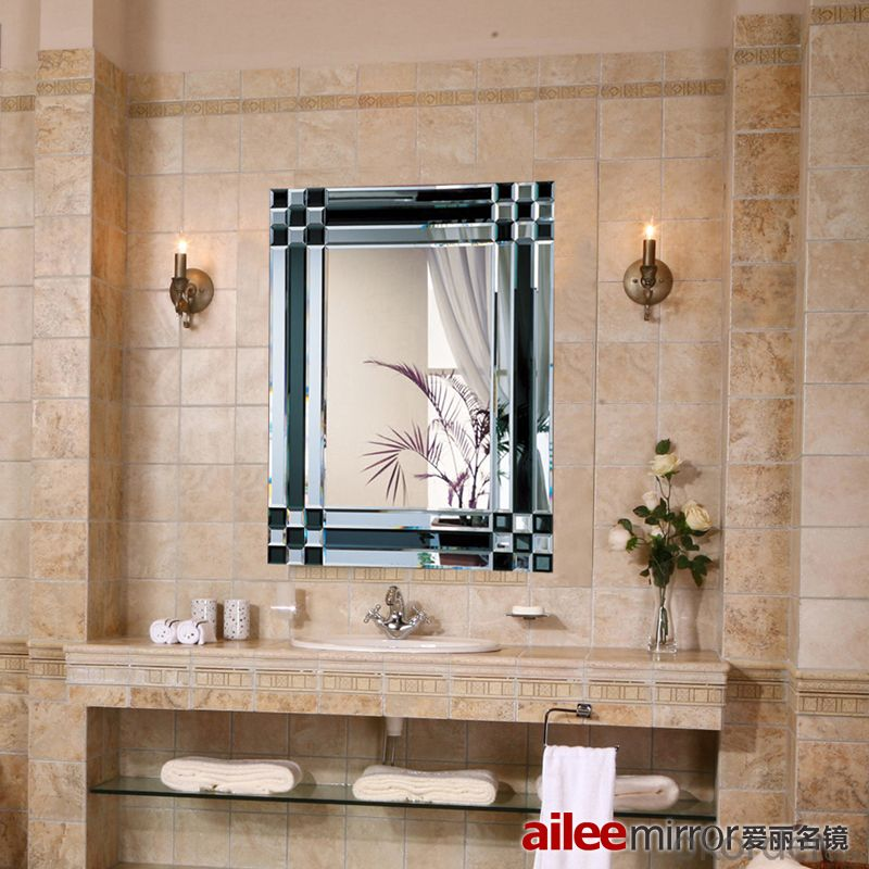 buy stainless steel bathroom decorative mirror 10525