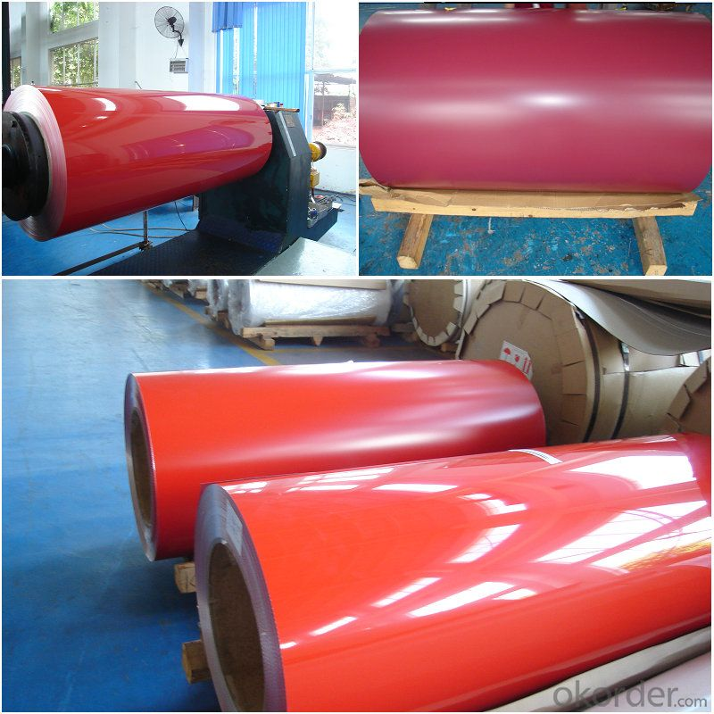 PVDF red color aluminium coil rolls
