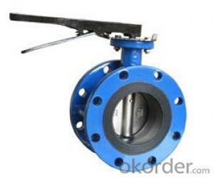 Cast Iron Hand Lever Wafer Butterfly Valve