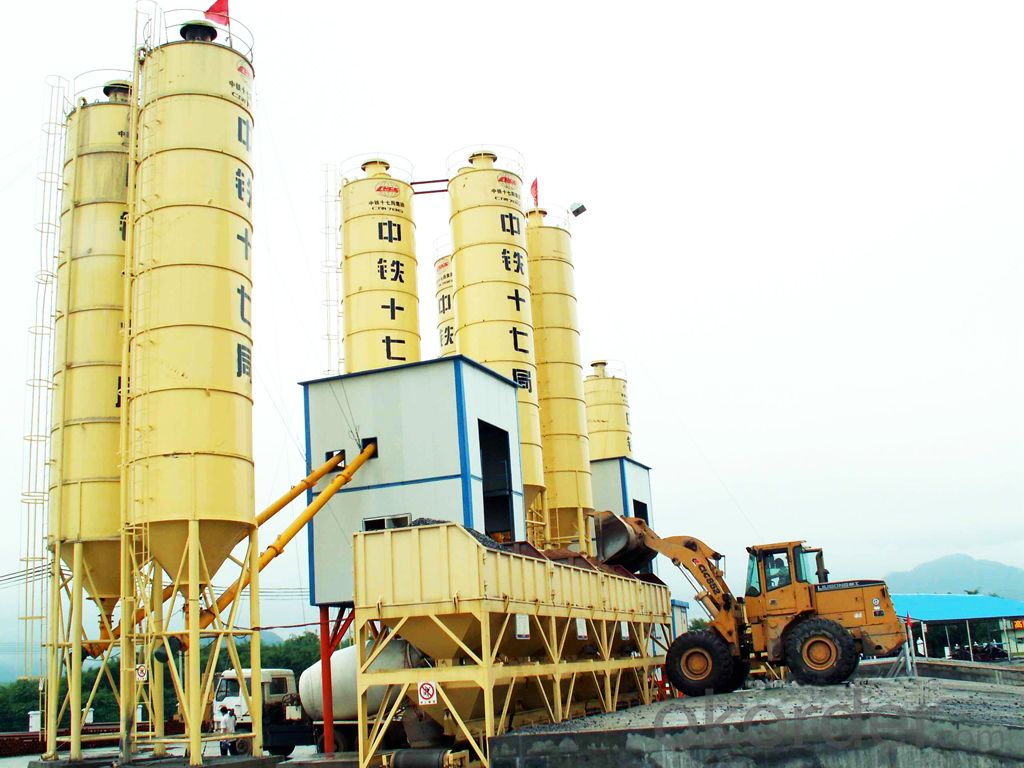 Famous brand concrete mixing plant for construction,production capacity is 50 cube meter per hour