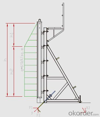 Single-side Bracket-formwork system