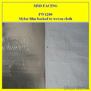 Aluminum Film Laminated to Woven Cloth