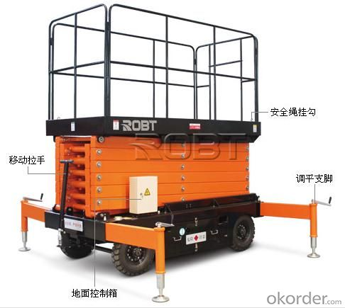 Mobile Scissor Lift 300Kg Loading Capacity Most Popular Model Lift Table