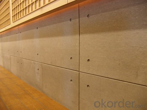 Buy Uv Coating Wood Grain Decorative Fiber Cement Board