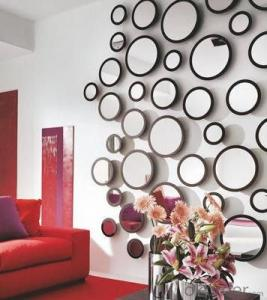 Home Decor Mirror Stickers round and square