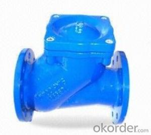 DIN Ductile Iron Flange Ball Check Valve