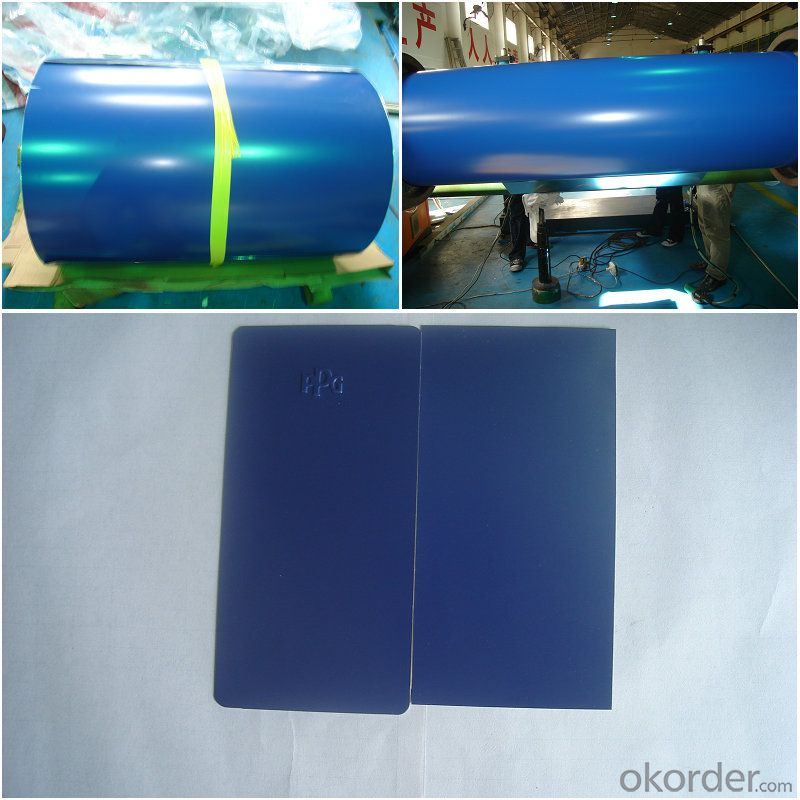 blue color aluminum coating coil rolls