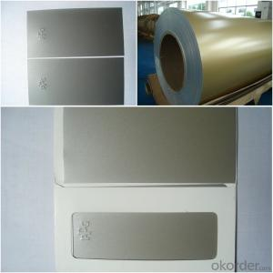 metallic color prepainted aluminum composite panel material