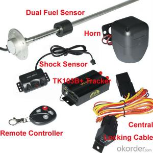 New arrival GPS Tracker TK103B with dual fuel sensor,central lock system