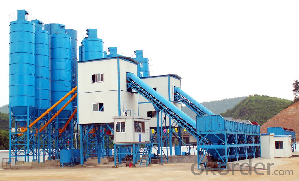 Famous brand concrete mixing plant for construction,production capacity is 135 cube meter per hour
