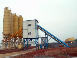 Ready mixed concrete mixing plant with capacity 35 cube per hour hot sale concrete mixing plant with bucket elevator