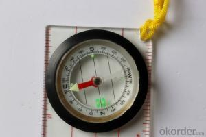 Transparant Map Scale Compass DC45-5W