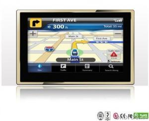 New Model 5 Inch Car gps with camera black box