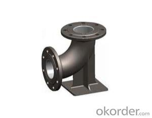Ductile Iron Pipe Fitting EN545 Double-Socket Duckfoot Bend