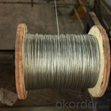 Hot Dipped Galvanized Steel Strand Wire 1x7