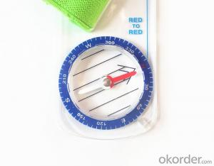 Mini Mapping Compass with Ruler and Scale