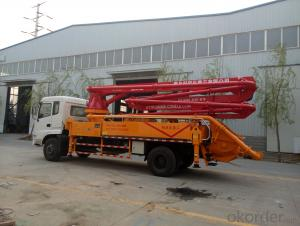 smal type  concrete  boom pump
