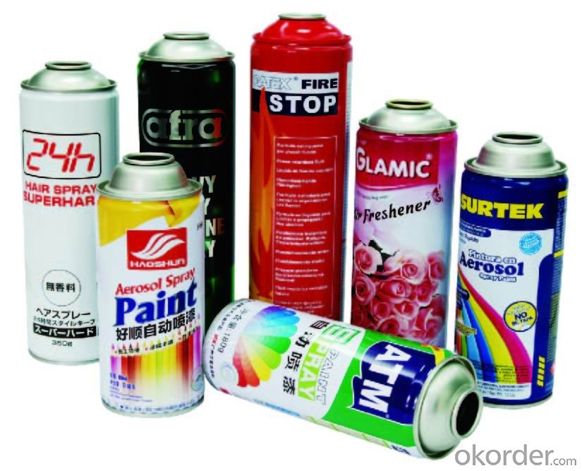 Aerosol Can for Hair Spray,Φ65mm, Tinplate Material