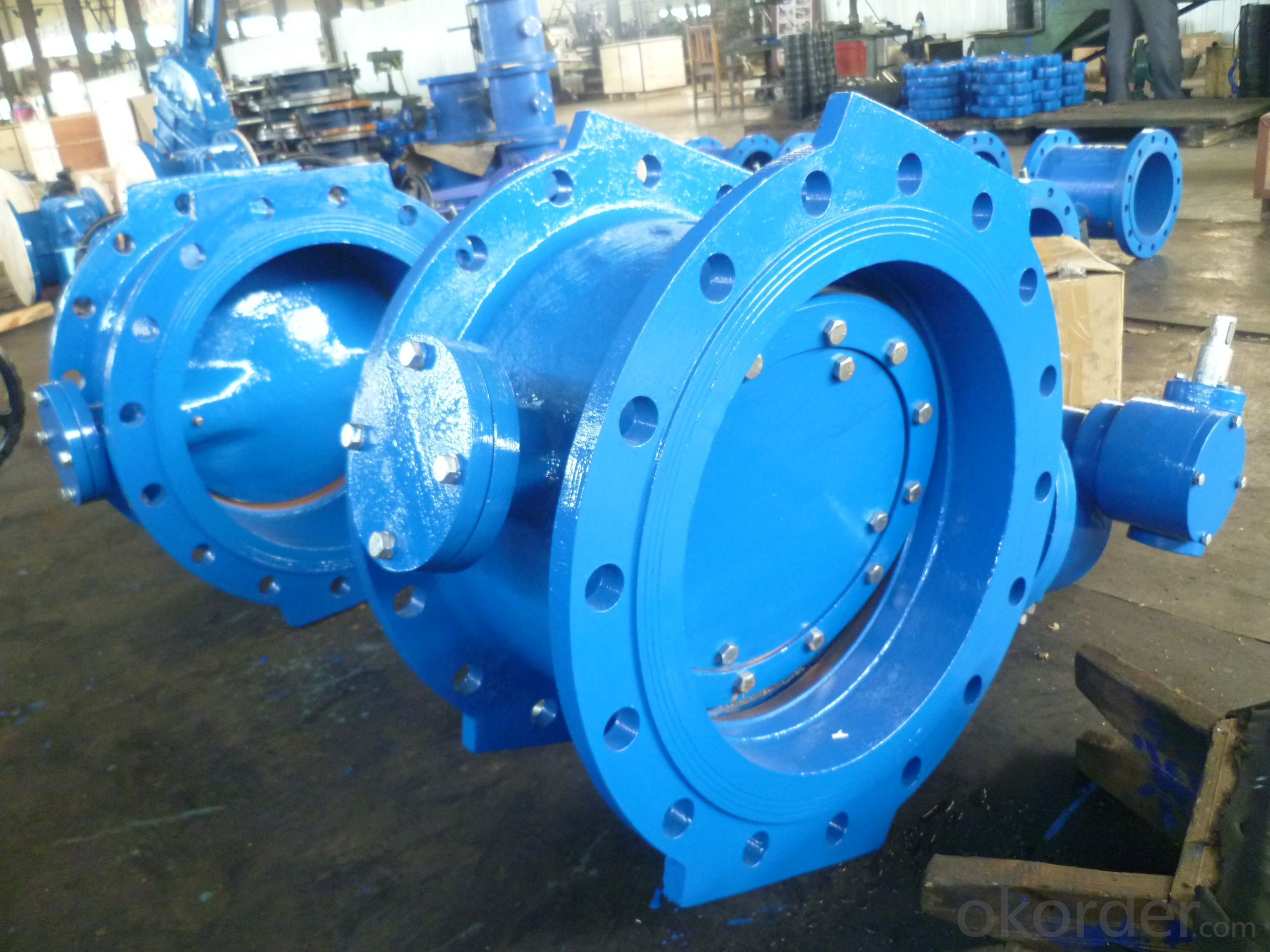Three eccentric double flanged  Butterfly Valve