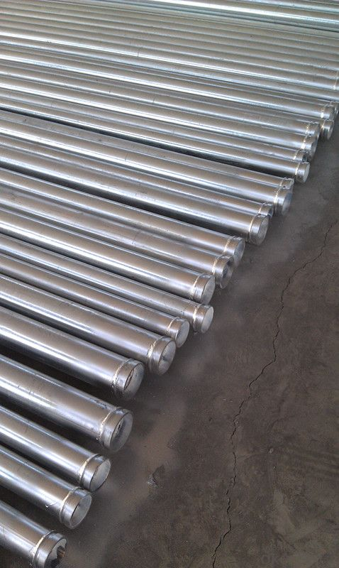 shouldered grooved pipe with coupling
